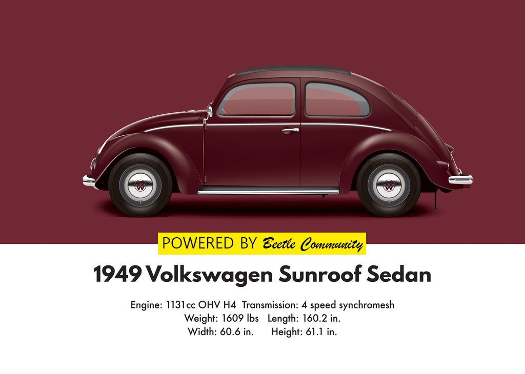 Vw Beetle 1949 Split Window Model And Specifications