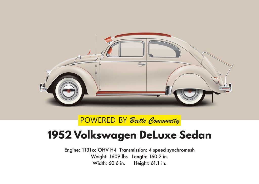 Vw beetle 1952 split window model and specifications for 1952 split window vw bug