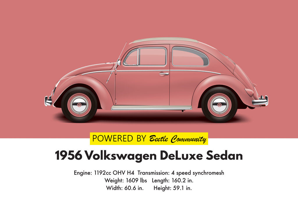 vw beetle 1956 oval window model and specifications