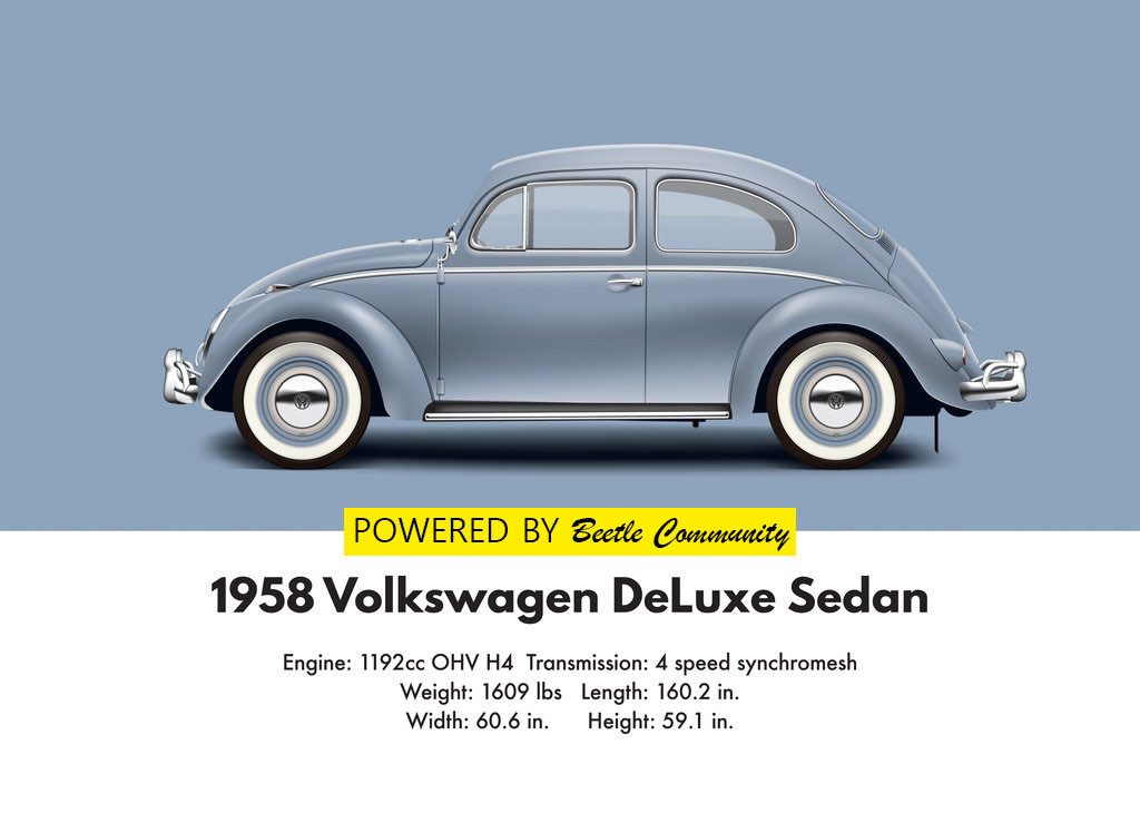 Vw Beetle 1958 Sedan Model And Specifications