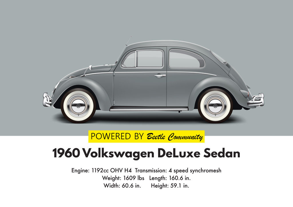 vw beetle 1960 sedan model and specifications. Black Bedroom Furniture Sets. Home Design Ideas